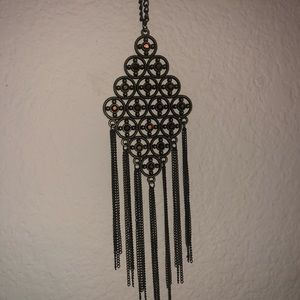 Gold brown paparazzi necklace